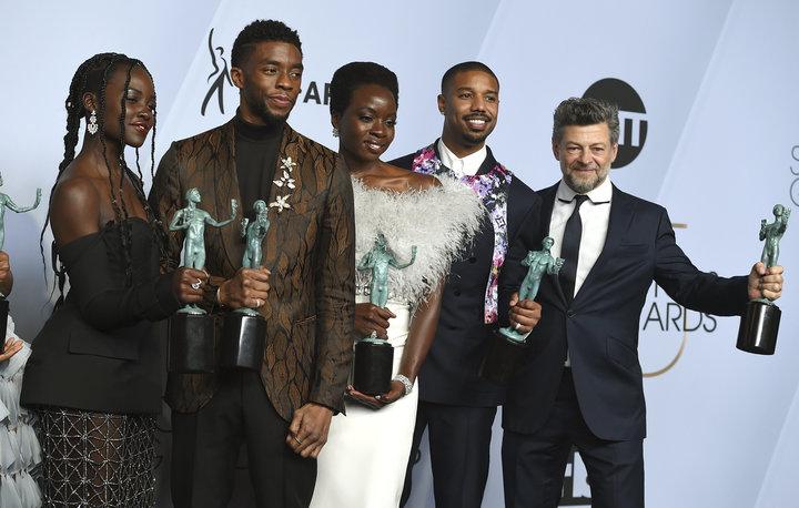 2019 Sag Award Winners Black Panther cast