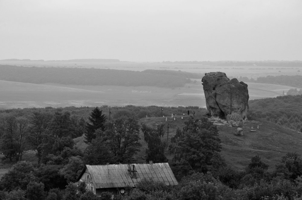 A view of the Devil's Rock in Podkamien. Photo by the Sarid Family, circa 2011.