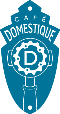 "Cafe Domestique   Purveyors of the second best espresso in town. ""We're cool with that""."