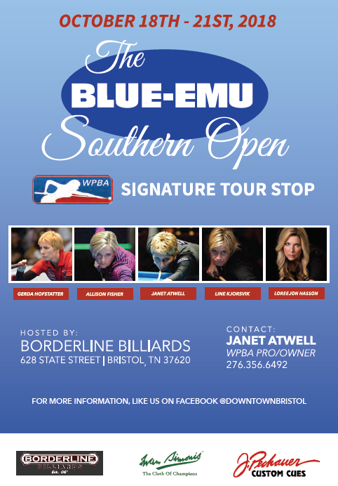 Flyer for WPBA Blue-Emu Southern Open.png
