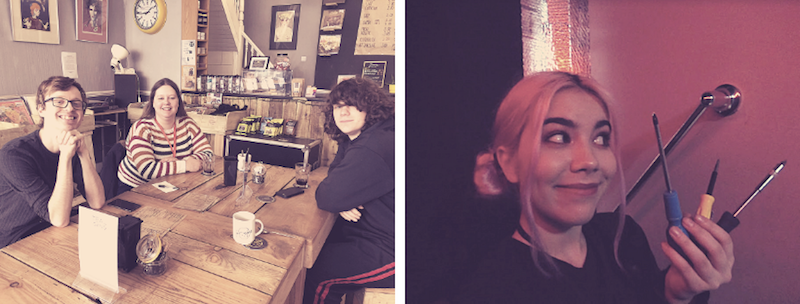 Staff lunch for Agents Gloo, Holmes & Samurai // Agent Engel hard at work!