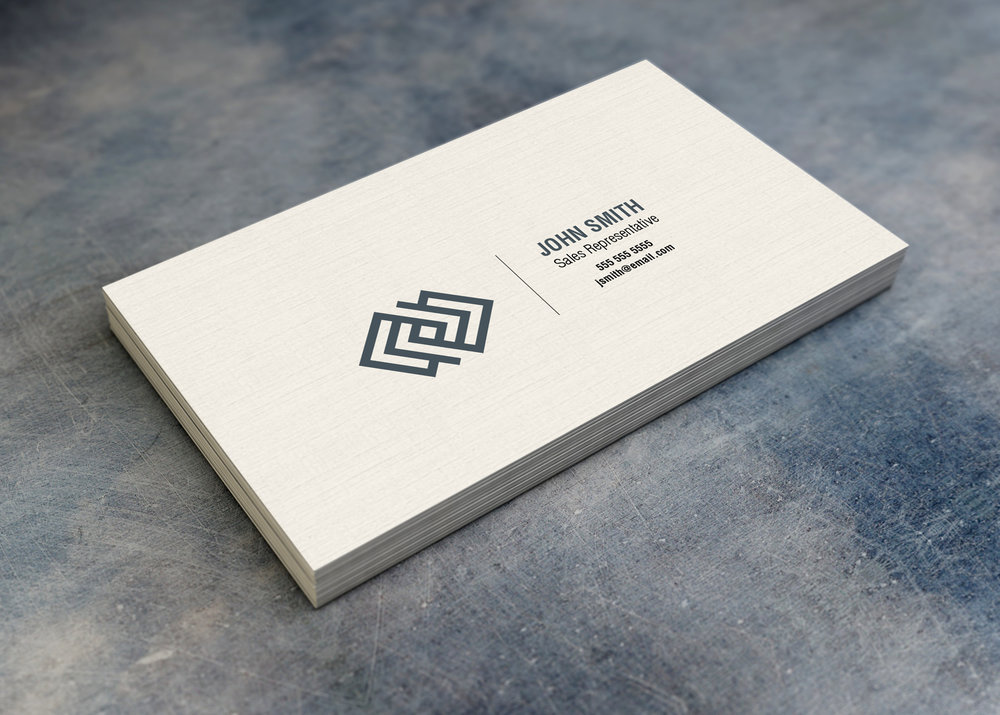 13pt Linen Uncoated Business Cards