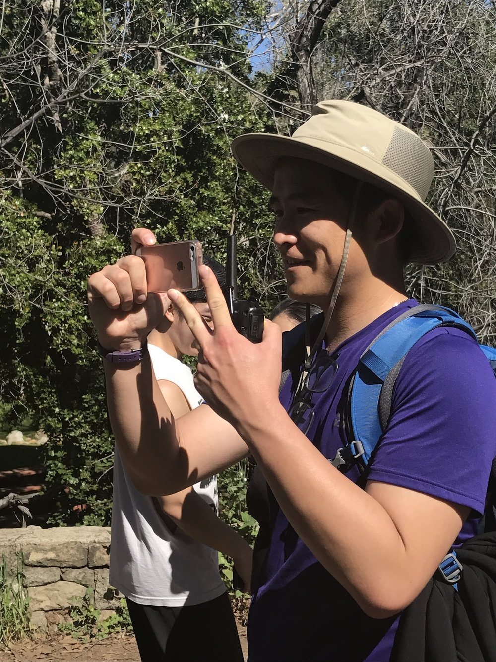 - Scott at a hike organized by APIFM with LEAP and community members.