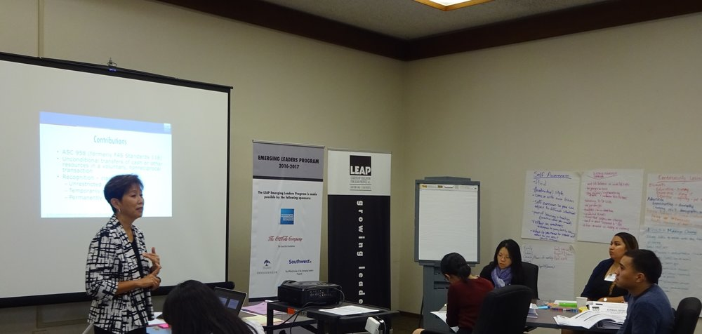 - Grace Toy leading a Financial Awareness workshop in Part 1 of ELP.