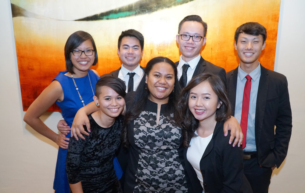 LIA interns at the LEAP gala