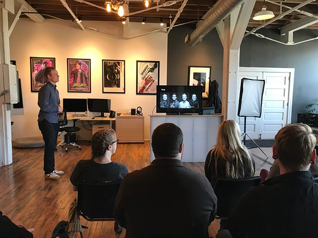 Hosting film students from Fort Hays State today at the studio. Special thanks to the faculty for reaching out and letting us share our insights on the industry!