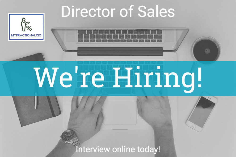 Director of Sales - Do you work in IT or professional services? Come work for us and grow your flame!
