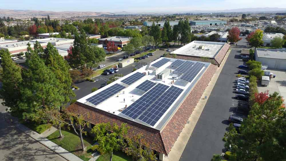 Commercial Office Park California | 101 kW Developed by  Vista Solar