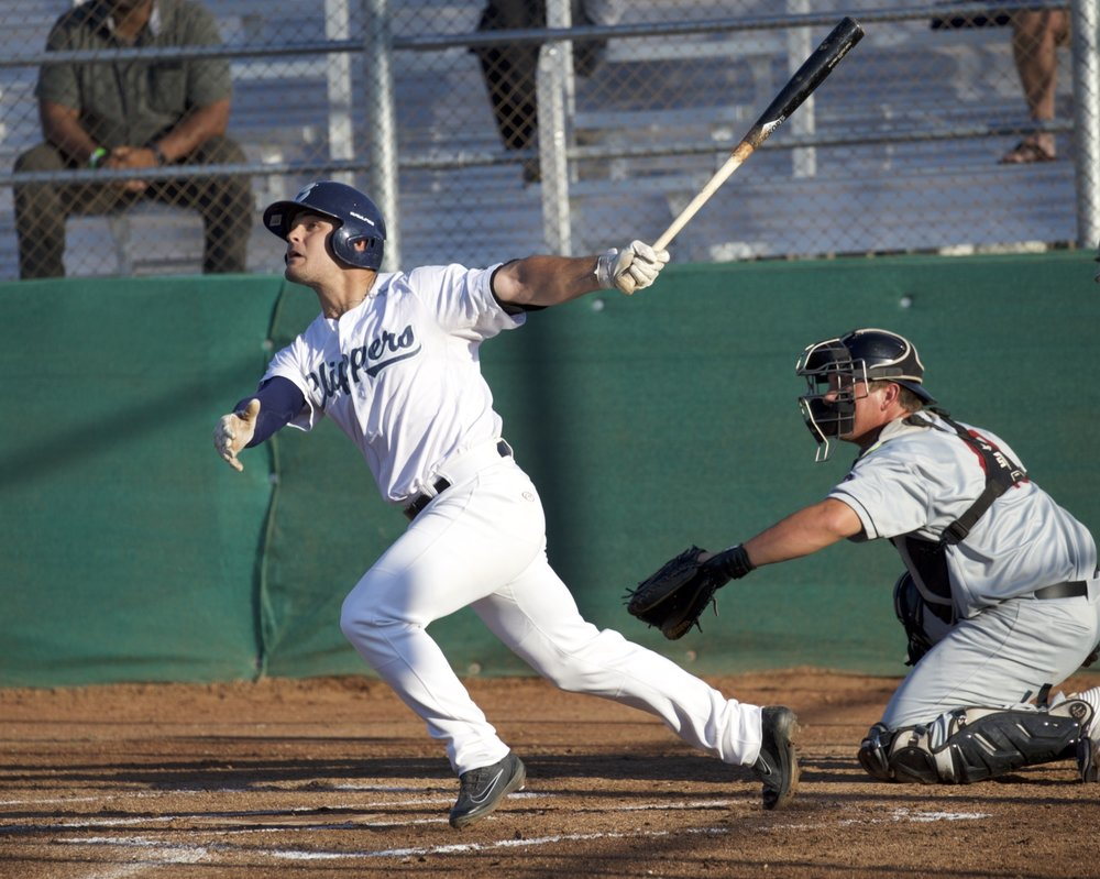 Alan Mocahbee hit two home runs on Tuesday, here pictured launching his first long ball of the evening.  Mark Fierner | Martinez News-Gazette