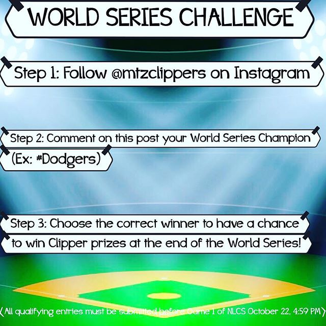 Hey Clippers fans! Let's test your baseball knowledge and see if you know who will win the World Series this year! Comment below your choice to win the Fall Classic for chance to win Martinez Clippers prizes! Good luck! ⚾️ 🏆 #fallclassic #mlbplayoffs #mtzclippers