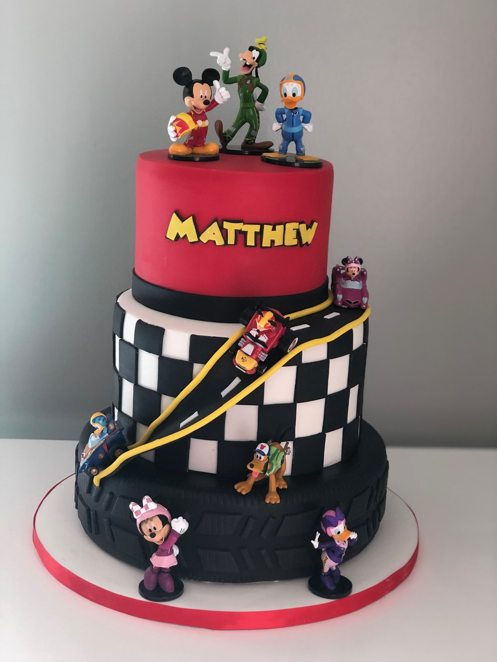 Mickey Mouse Race Car Cake