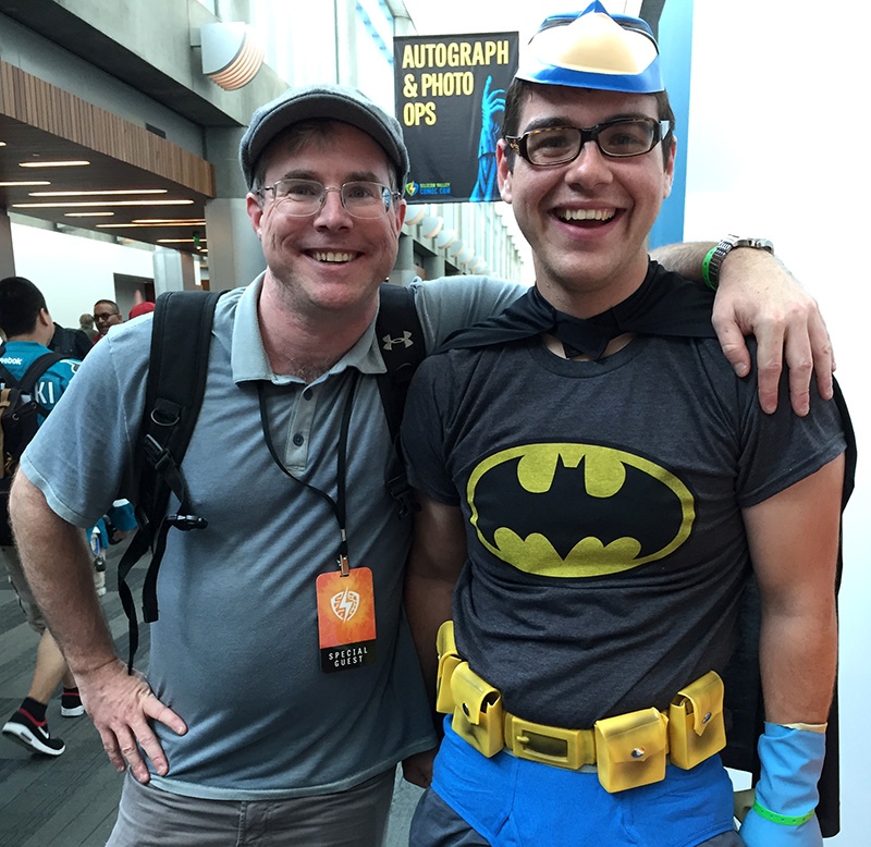 Donald with writer Andy Weir