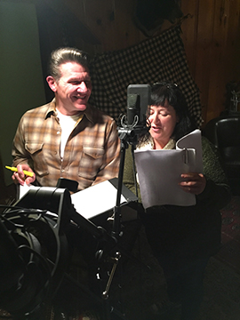 Aaron & Beth recording S2E6 written by Beth