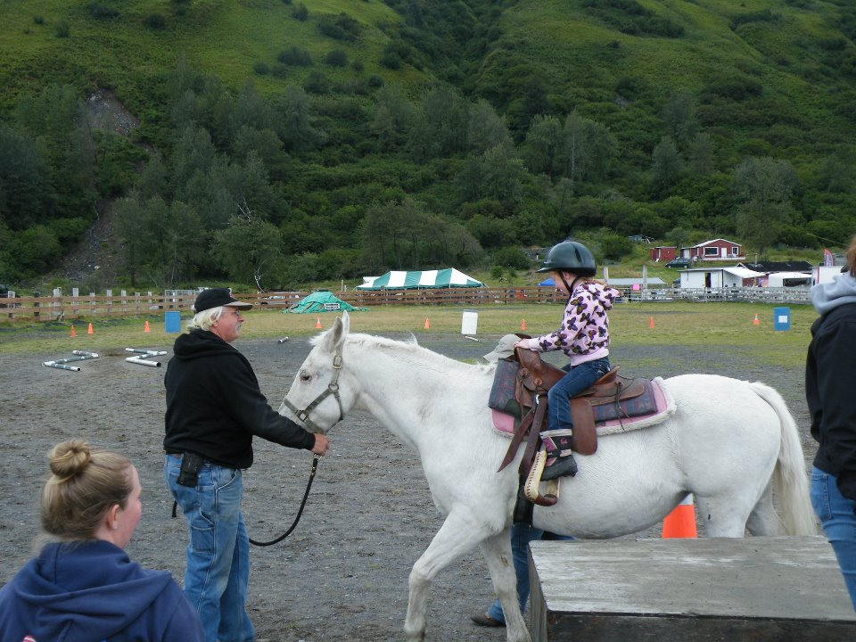 Cliff Ford, and sweet Molly, helping with the pony rides