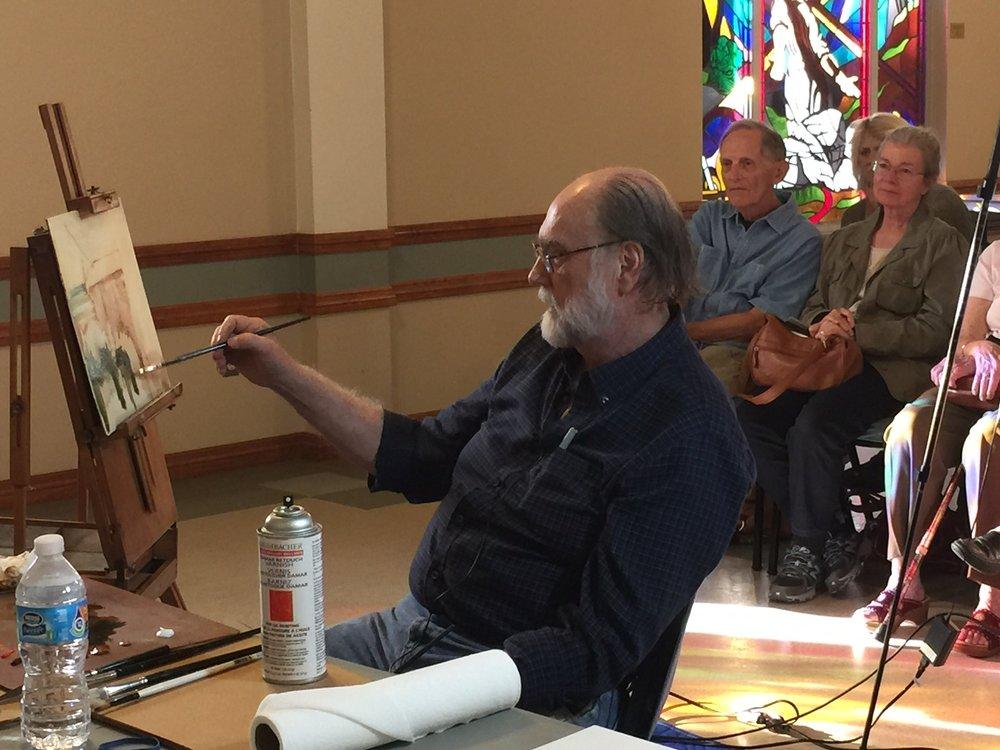 Professional guest artist John Austin Hanna