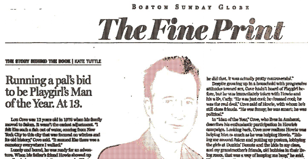 Read the   Boston Globe MAN OF THE YEAR profile