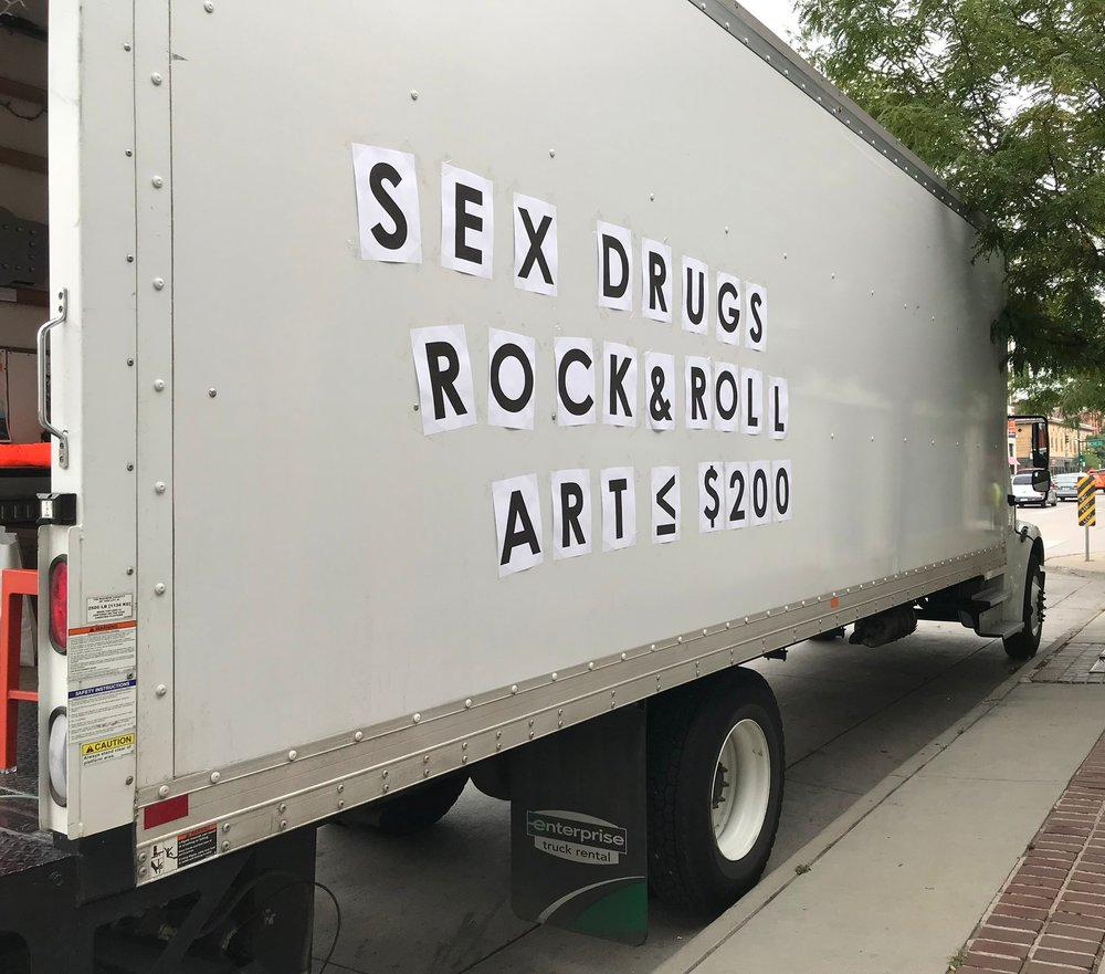 A pop-up art gallery on wheels featuring original works under $200 - Hitting Denver's streets July 2018