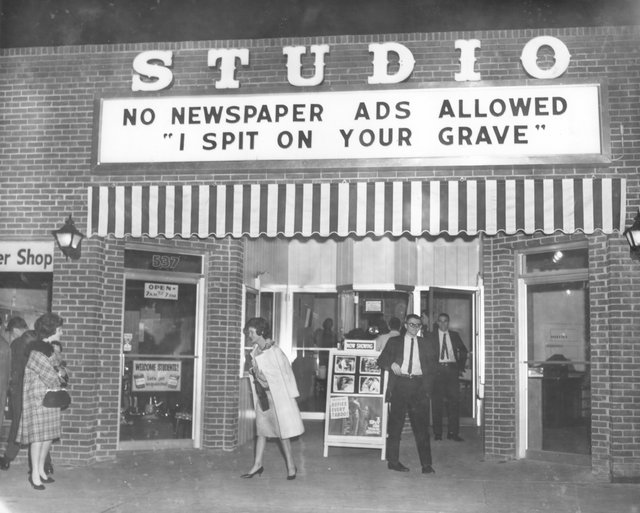 Studio Movie Theater, 535 S. Highland St., 1955. Current site of The Bluff.
