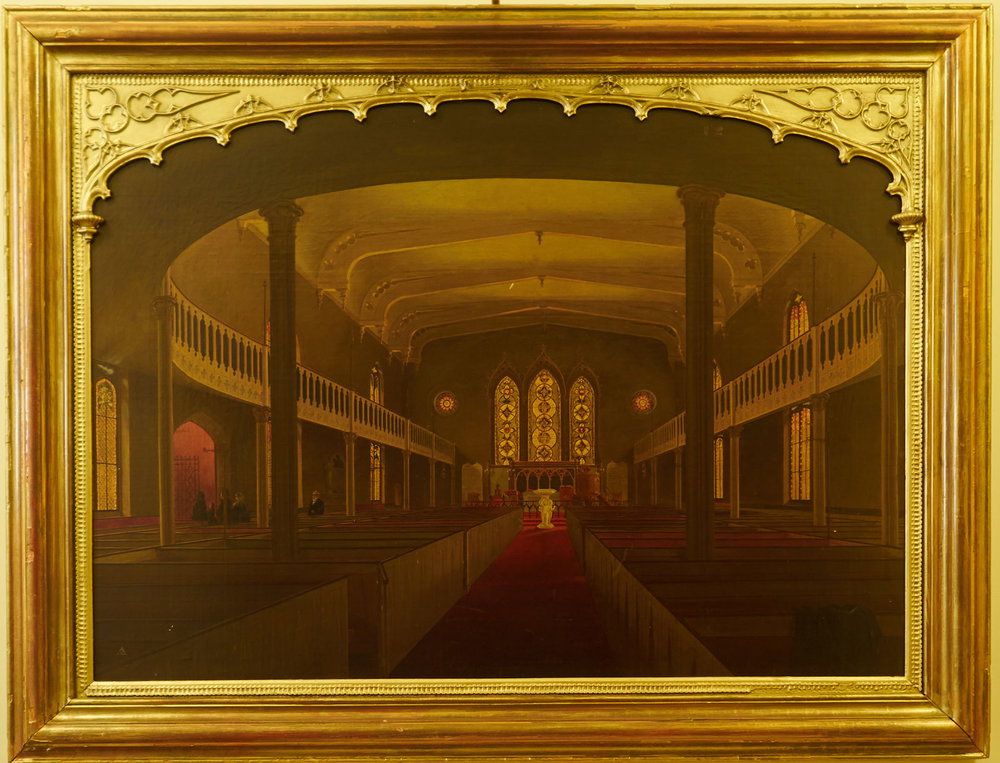 A. Zeno Shindler, Painting of the Church Interior