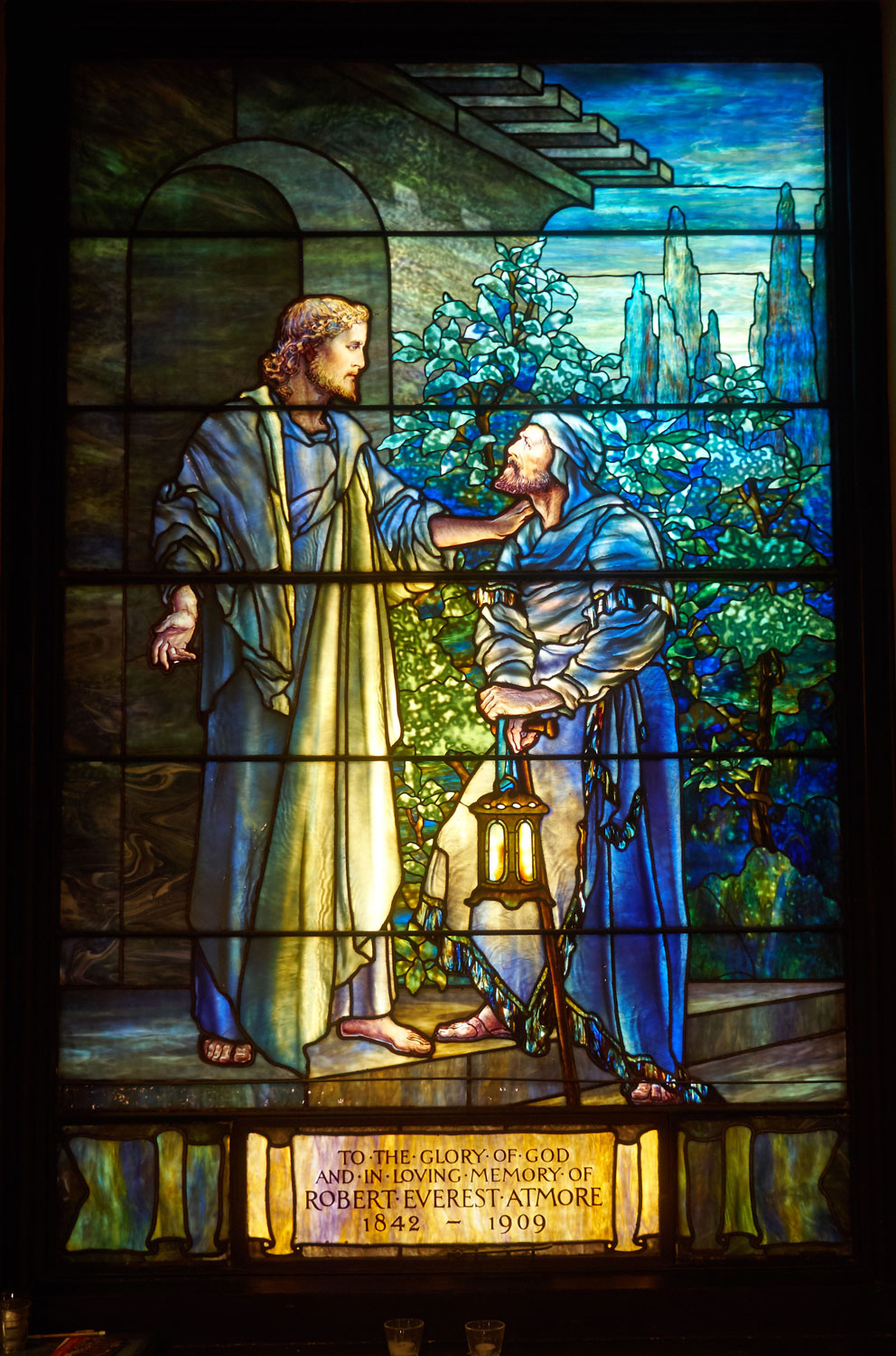 Tiffany Studios, Christ and Nicodemus, 1911