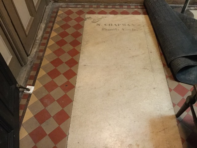 Floor Tile in Parish House Vestibule