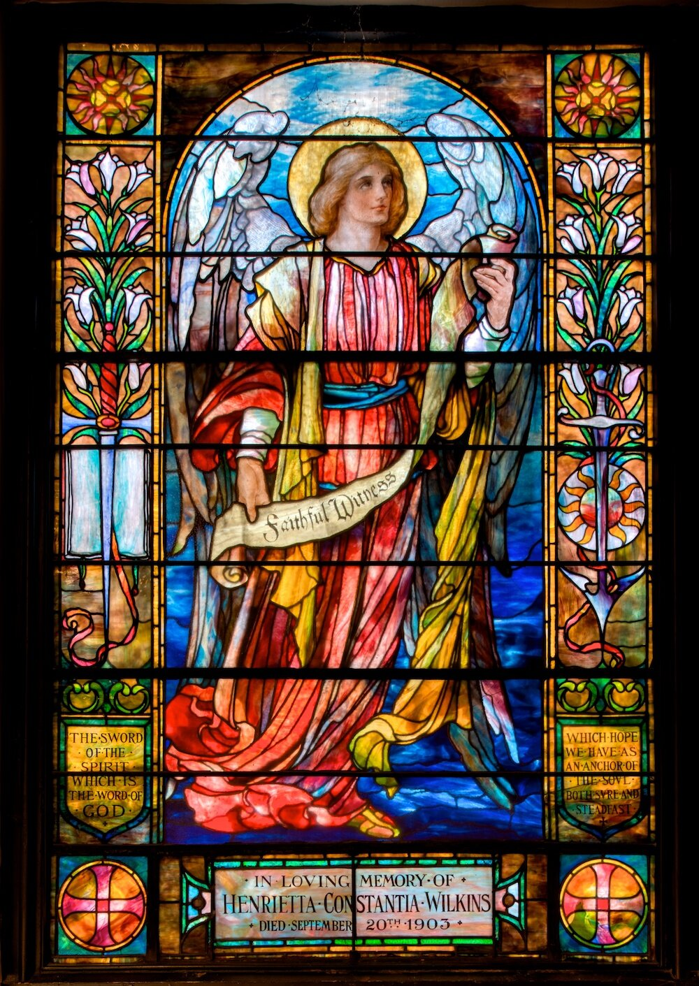 Armstrong Maitland, Faithful Witness-Angel honoring the sword of the spirit and anchor of the soul, c. 1903