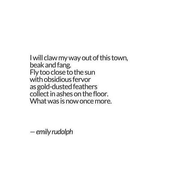 I've realized lately that I have a bit of an obsession with the Phoenix. Which is fine with me... It's interesting how you can read your own work months or years later and pick up on themes or symbolism that never revealed itself before.  #poetrycommunity #poetsofig #emilyrudolph #poetry #poetryofinstagram