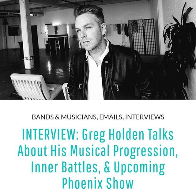 "My #latest with @burninghotevents is up and I am sooo in love with these answers! You know how I dig them deep dish creative interviews... 🔥👉 @gregholden is a British singer-songwriter based in the United States. He is best known for his hit charity single ""The Lost Boy"", and for co-writing ""Home"" — the 2012 debut single for American Idol-winner Phillip Phillips.  Before Holden's tour date in Phoenix, we tapped into his psyche in this Q&A discussing his choices that manifested his dreams, and more: http://bit.ly/2LNeoHD #LinkInBio  cc: #BurningHotEvents by @kataklizmicdesign  I posted this earlier... But re-posting this way because screw Instagram aesthetics. 😉 (Lol)  #musicjournalism #emilyrudolph"