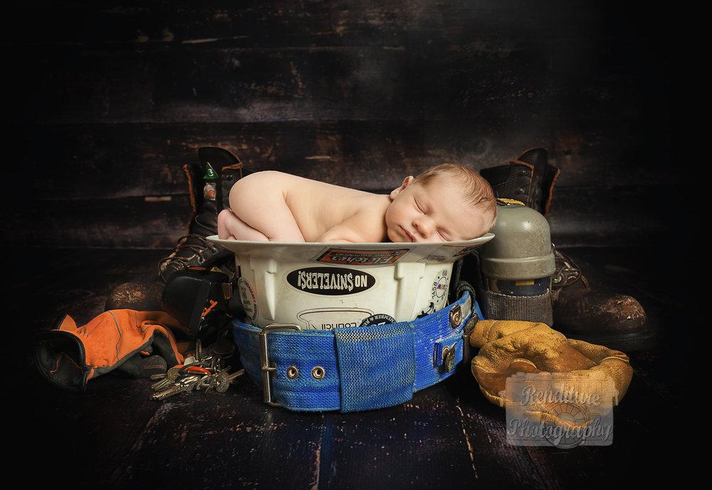 Linesman Baby Photo Saskatoon
