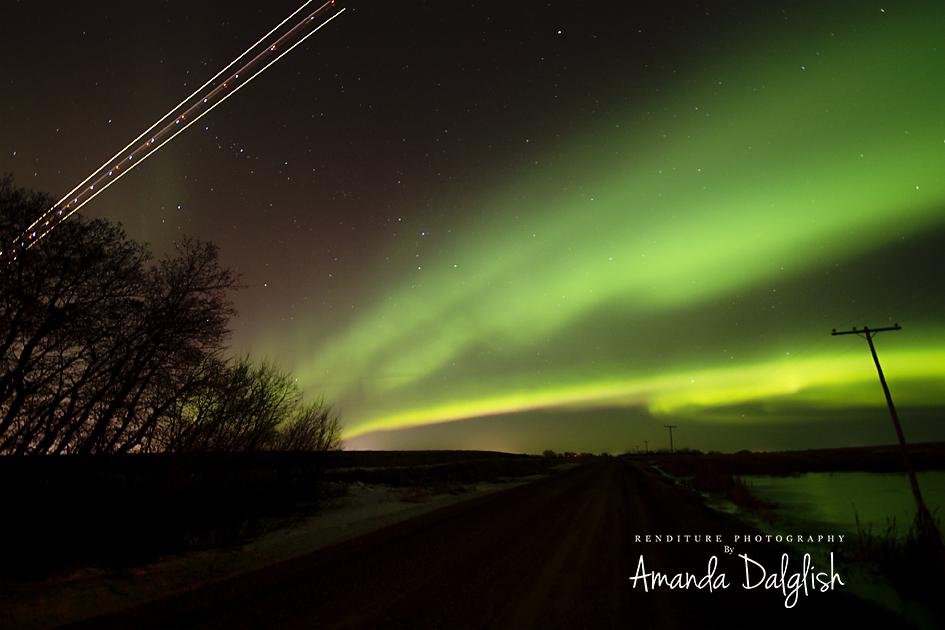 Aurora Borealis, Saskatoon, Saskatchewan, Canada, Renditure Photography