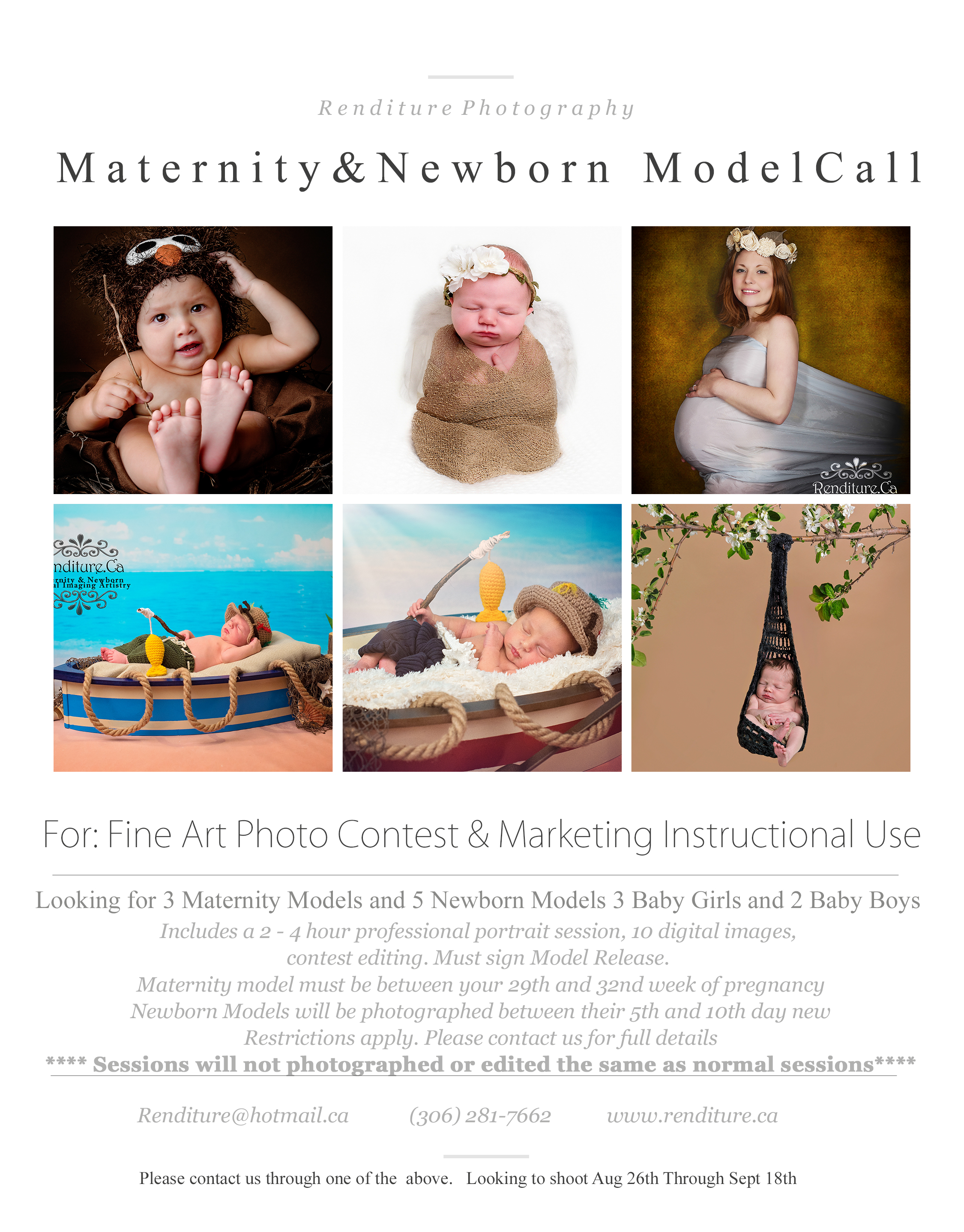 941c86e61 Newborn Photography   Maternity Photography Model Call — Renditure ...