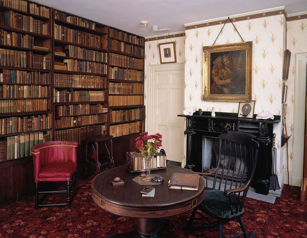 the original furnishings of Emerson's study, now located across the street in the Concord museum.  photo courtesy of the concord museum