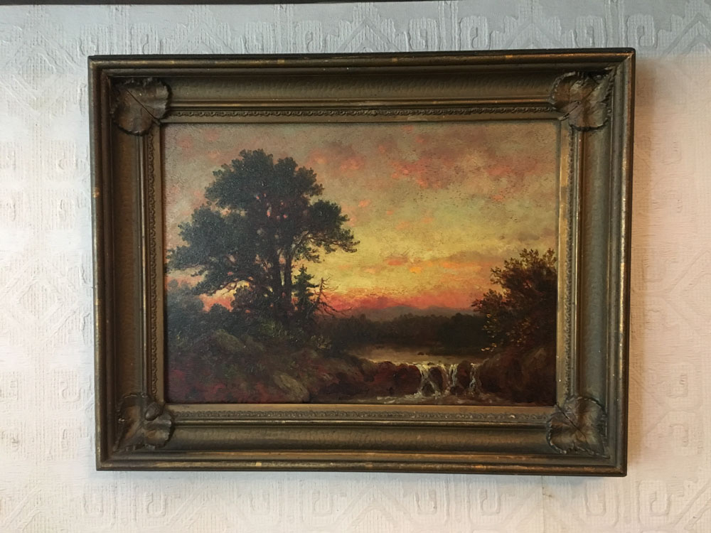 Christopher Pearse Cranch was a painter of the Hudson River School, a poet and Transcendentalist. He gave this painting to Emerson in 1875.