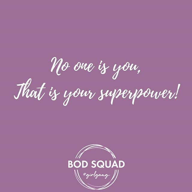 Y O U  D O  Y O U !  As ladies quite often, we are our own worst enemy!  I can't, I'm to old, I'm to fat, I'm to slow, I'm not Lucy Haha HEY you have a superpower girlfriend! There is no one else in the world that can do you!! So .. you do you as best you can!  #supergirl #mondaymotivation