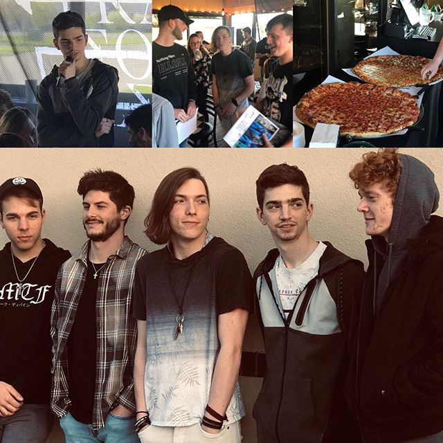 """ICYMI - Thx to the awesome fans who came out last night!!! Dave at Taranto's Pizzeria at Polaris took great care of all of us! When's the next event?  Sign up at website under """"Insomniacs"""" to get the latest news!  Lots more cool stuff coming!! #prayforsleepband #prayforsleepfan"""