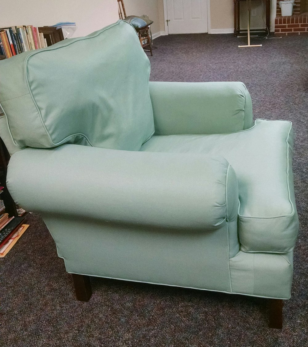 My first re-upholstery project - June 2018