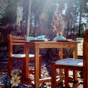 Table and chairs perfect for a tea party or intimate lunch.  $200/set