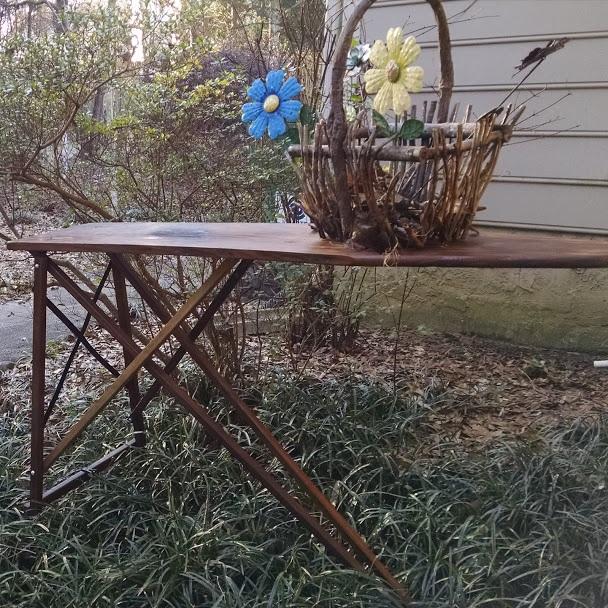 Restored vintage ironing board.  $50.