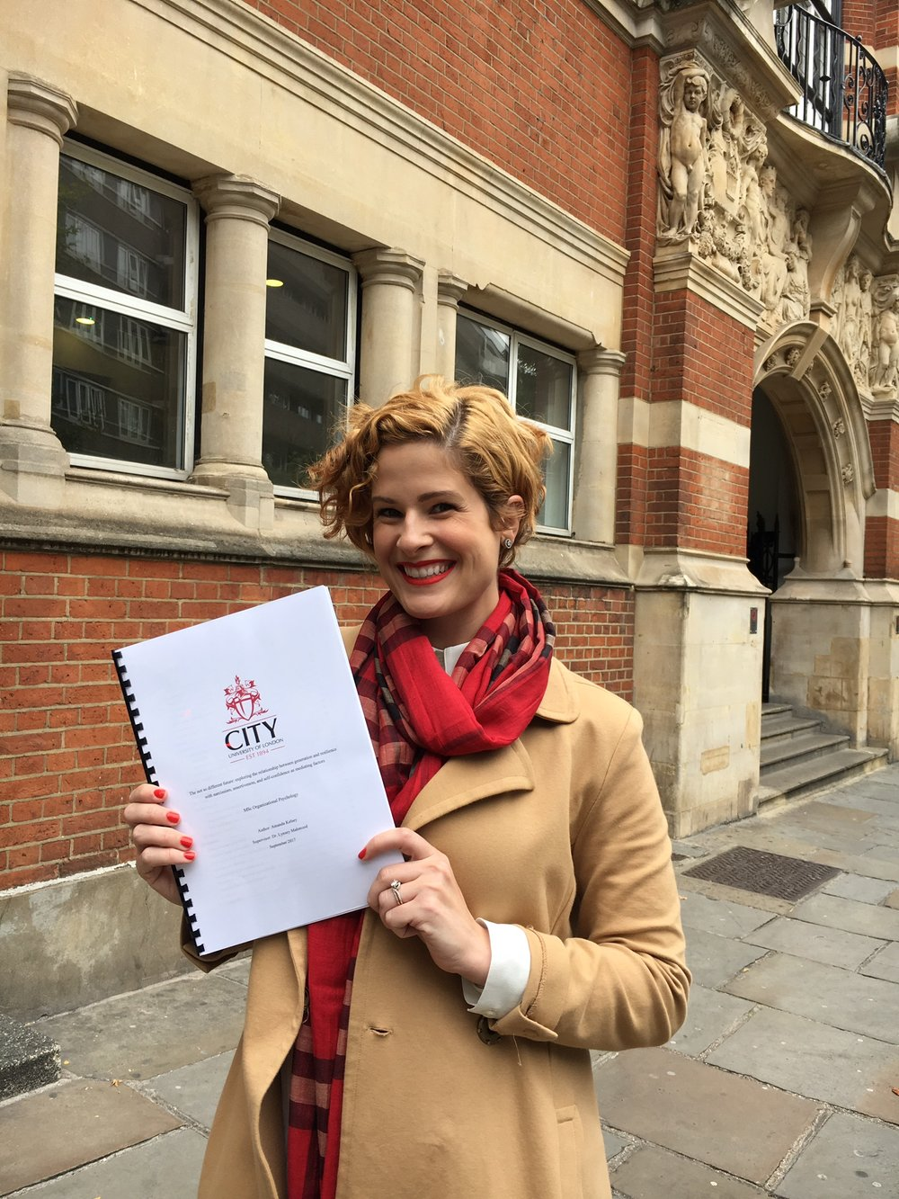 Arriving at City University of London to begin my Master's of Organizational Psychology