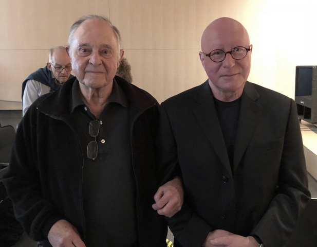 With John Chowning, 2018, Community School of Music and Arts, Mountain View, California