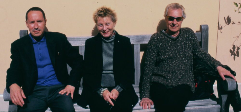 With Brunhild and Luc Ferrari, UCSB, 2002