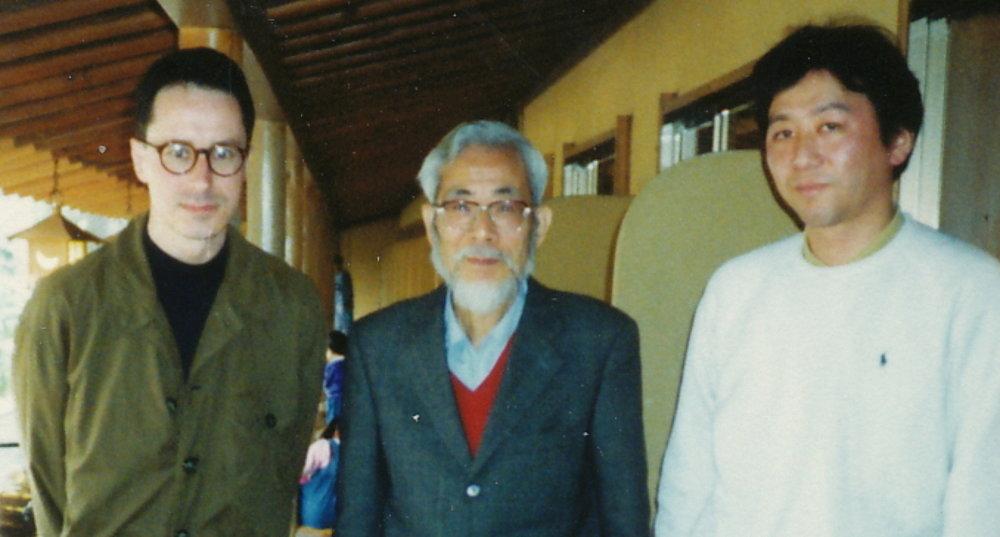 With Prof. Sadamu Ohteru, designer of the Tsukuba Musical Robot, and his student Dr. Shuji Hashimoto,  Waseda University, Tokyo, 1993
