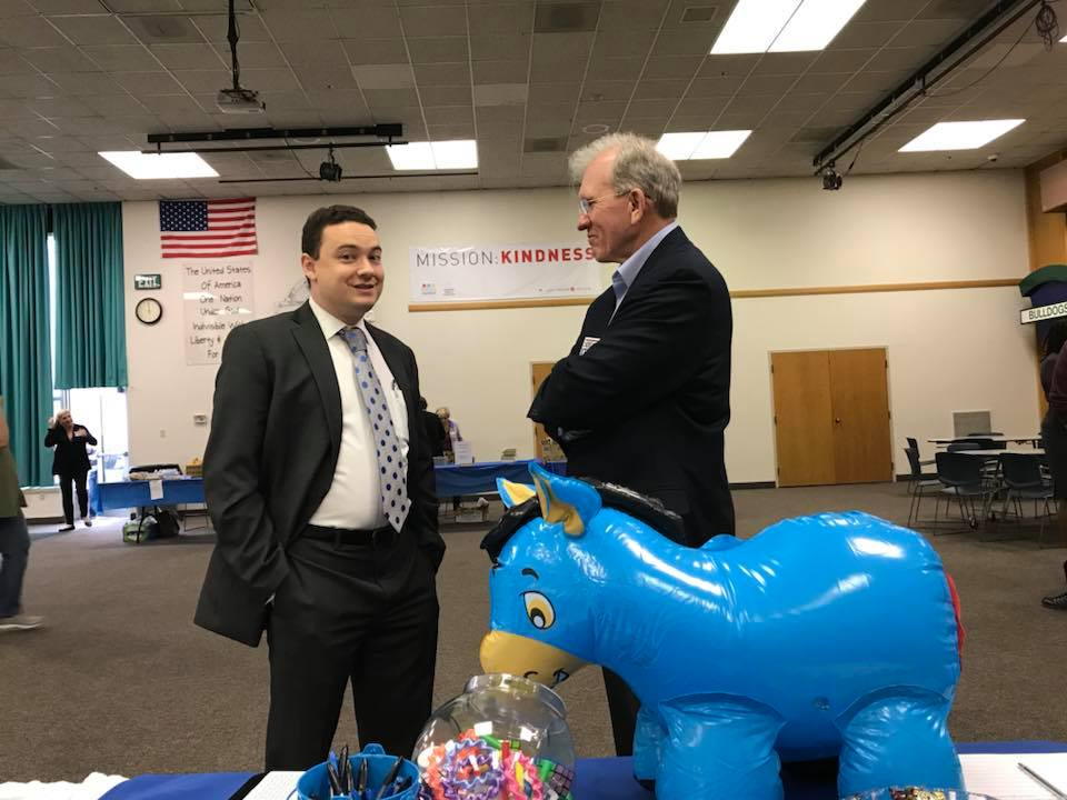 Yes, that's the Moon Campaign blue donkey! We have pin the tail on the donkey for kids whose parents drag them along to Democratic Party events.