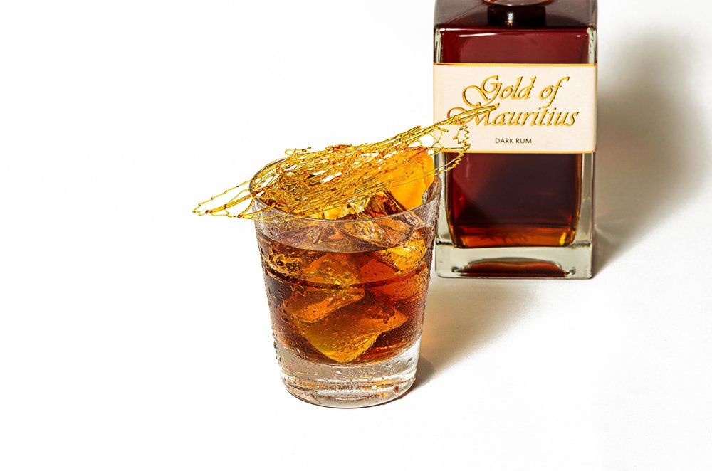 Salted Caramel Old Fashioned, for  Gold of Mauritius Rum .  Photo and Recipe: U.Nijs