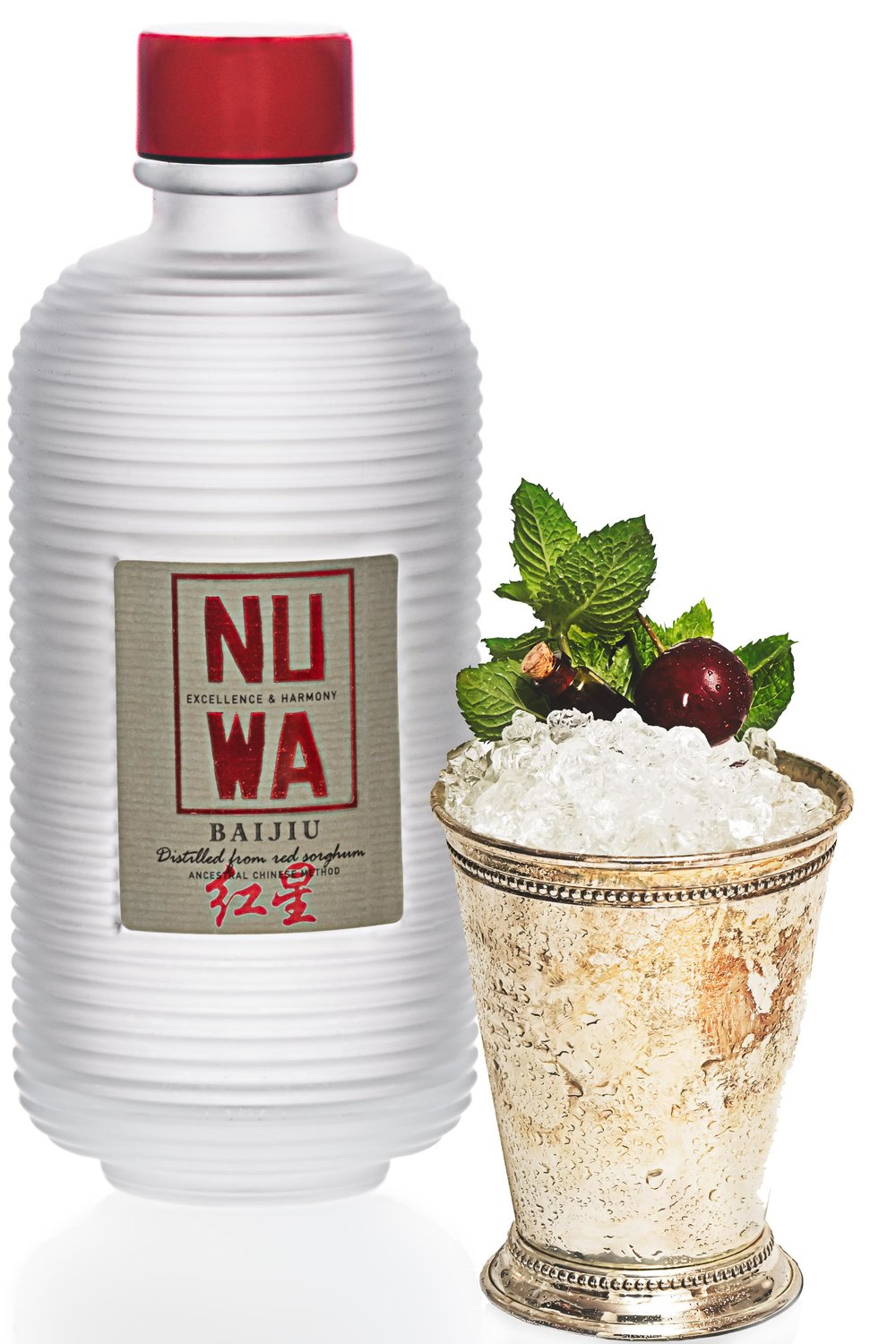 YingTao Julep created for Nuwa Baiju.  Photo and Recipe: U.Nijs