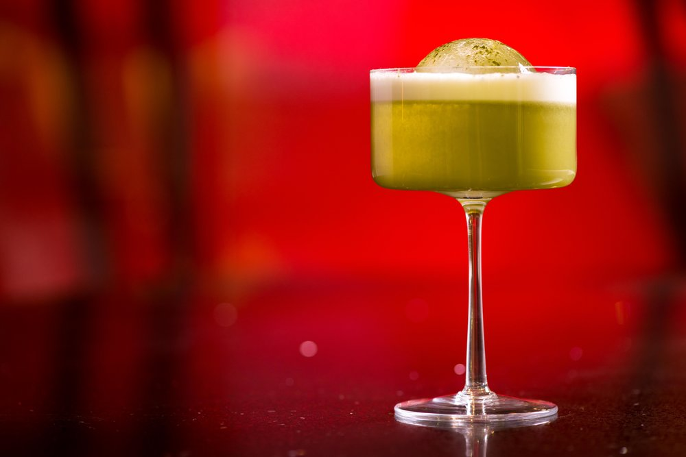 Matcha Sour for Enso Restaurant, Amman.  Photo: J. Adgeappa, Drink: U.Nijs