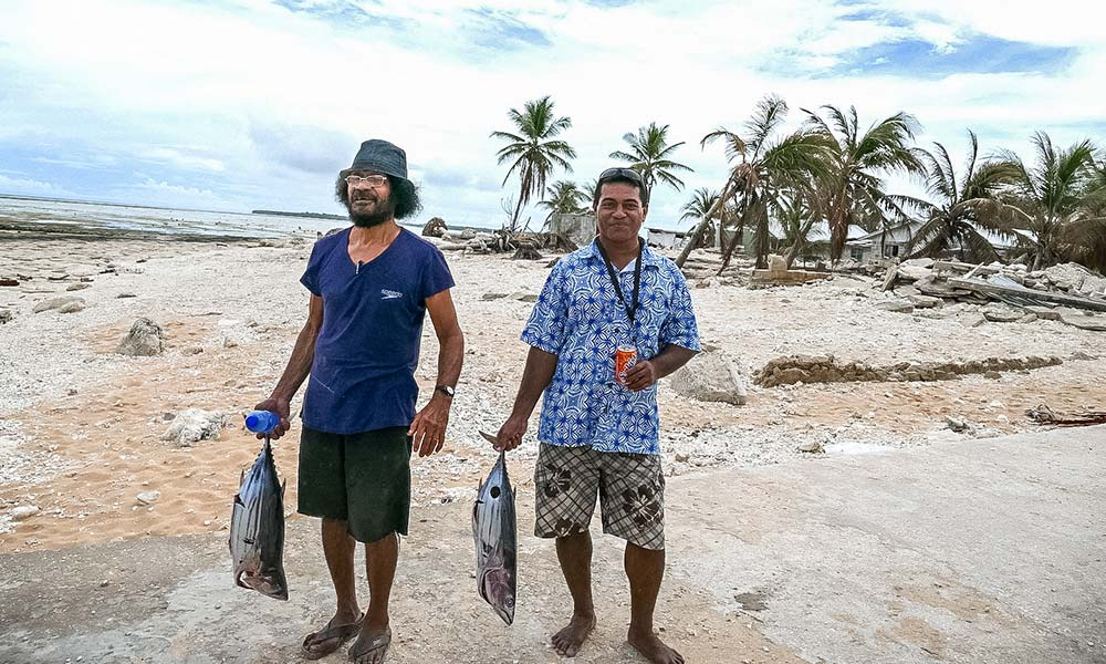 Nui island's fishery sector was severely affected when wave surges caused by Cyclone Pam destroyed boats, equipment and coral reefs. Early assessments indicate it will take at least 10-years for fish stocks and coral reefs to recover from the devastation, a big loss for fishing communities and the tourism sector. Photo: Silke von Brockhausen/UNDP