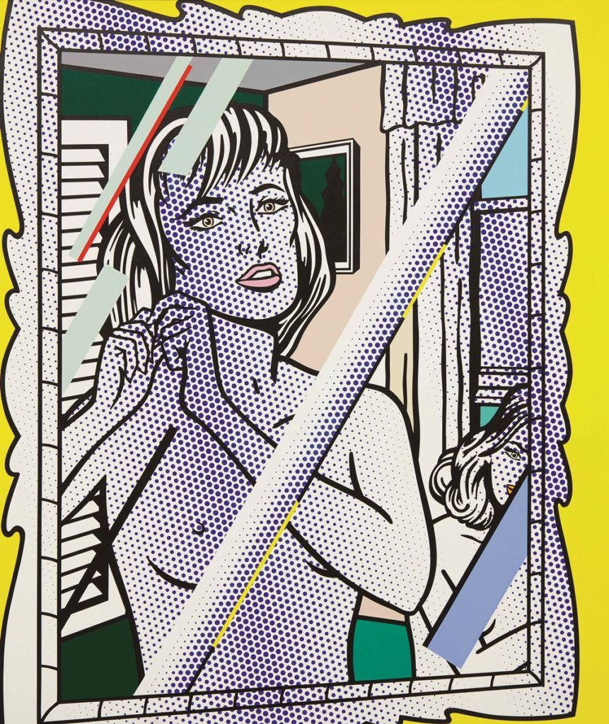 "Roy Lichtenstein,  Nudes in Mirror  (1994) / pocket knife  This work was damaged in 2005 while on view at Austria's Kunsthaus Bregenz. It was repeatedly slashed, with four cuts each measuring nearly a foot in length.  From press:  ""The perpetrator, armed with screwdriver, spray paint, and pocket knife, was a thirty-five-year-old Munich ex-prostitute suffering from schizophrenia. A museum visitor and an employee held the woman until police arrived. She scratched a police officer in the face and bit another in the leg during questioning. According to newspaper accounts, the attacker's actions were spurred by her conviction that the painting was a fake—that as the Coburg Neue Presse reported,Nudes in Mirror 'was not a genuine Roy Lichtenstein'—a claim the show's curator, having had insult added to injury, of course immediately refuted.""   The painting was eventually able to be restored, and  recently went back to auction ."