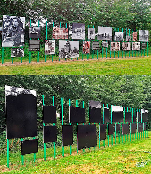 "Gerda Taro, various photographs / paint   In August 2016, an open-air installation of Taro's war photography was vandalized while on view in Leipzig, Germany. The works, which depict scenes of conflict including the Spanish Civil War, were covered in black paint on the night of Wednesday, 3 August.   The exhibition's organizers stated, ""How a work of art is handled in the public space is always a litmus test for the state of a community. Unlike the 'protected space' of a museum or gallery, a work in the public realm is under the protection of us all.""   The organizers believe the act was ""politically motivated"" and a police investigation has been launched."