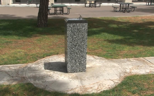 """Michael Asher,  Untitled , 1991 / sledgehammer   On the evening of January 13, 2015, a masked individual on a """"wrecking spree"""" took a sledgehammer to this granite sculpture while it was on public display at UC San Diego's campus.   During his spree, the individual also damaged the campus's Chancellor Building and smashed a junction box on the roof to disable several security cameras. He also destroyed eight individual cameras. The perpetrator then spray painted """"You can paint over me, you can catch me, you can expel me, I will still be here,"""" on a wall in gold paint. He also sprayed """"private property"""" on the wall of the Geisel Library.  Asher's sculpture was destroyed beyond repair; the individual remains at large."""